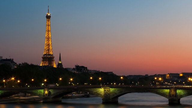 Eiffel Tower Sunset Joe deSousa